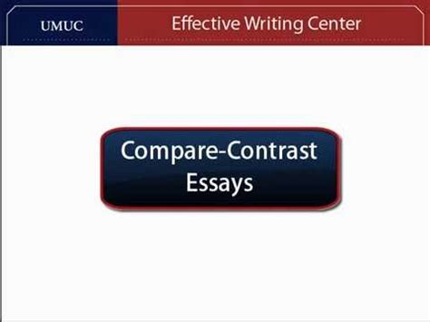 Comparison Contrast Essays - YouTube